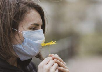 coronavirus epidemic and a sad woman