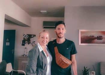 Η Μαρία Πετεινού και ο ποδοσφαιριστής του ΠΑΣ Λαμία Θοδωρής Βασιλακάκης