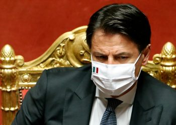 FILE PHOTO: Italian Prime Minister Giuseppe Conte attends a session of the upper house of parliament, following the outbreak of the coronavirus disease (COVID-19), in Rome, Italy, July 28, 2020. REUTERS/Remo Casilli/File Photo