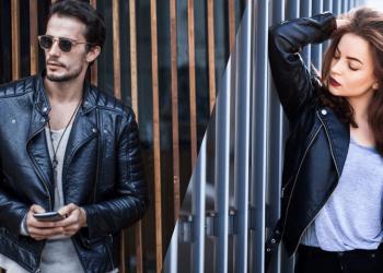 men women leather jacket