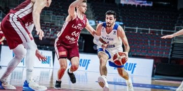 EUROBASKET 2022 / ÐÑÏÊÑÉÌÁÔÉÊÁ / ËÅÔÏÍÉÁ - ÅËËÁÄÁ (ÖÙÔÏÃÑÁÖÉÁ: FIBA.COM / ONLY FOR EDITORIAL USE)