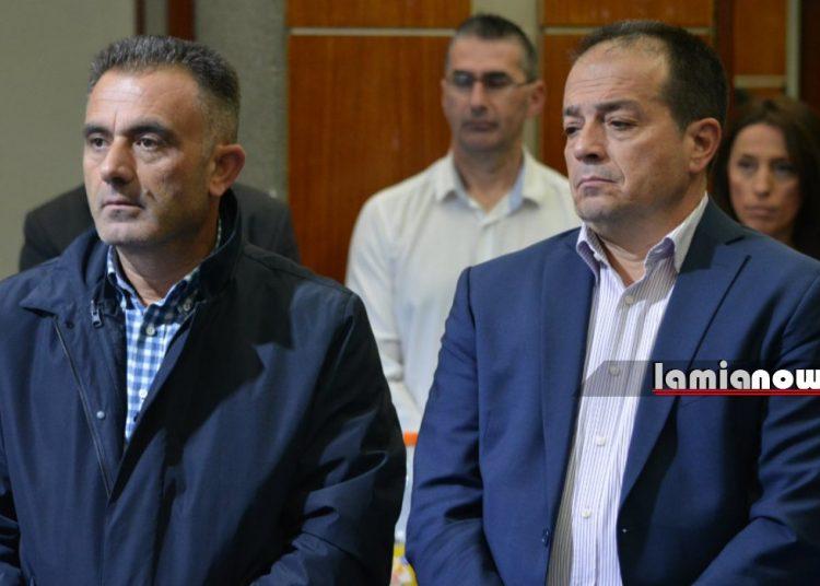 Αριστερά ο Γιώργος Λάμπρου, δεξιά ο Νίκος Σταυρογιάννης