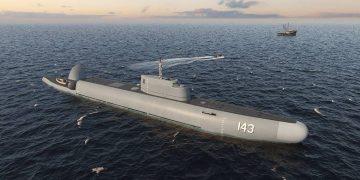 """RUSSIA - MARCH 2, 2021: A view of Strazh [Guardian], the first Russian submersible patrol craft, developed for foreign clientele by Rubin Design Bureau, subsidiary of United Shipbuilding Corporation. Rubin Design Bureau/TASS  THIS IMAGE WAS PROVIDED BY A THIRD PARTY. EDITORIAL USE ONLY  Ðîññèÿ. Ïåðâûé ðîññèéñêèé ïîãðóæíîé ïàòðóëüíûé êîðàáëü """"Ñòðàæ"""", êîòîðûé ðàçðàáîòàëî Öåíòðàëüíîå êîíñòðóêòîðñêîå áþðî (ÖÊÁ) """"Ðóáèí"""" (âõîäèò â ñîñòàâ Îáúåäèíåííîé ñóäîñòðîèòåëüíîé êîðïîðàöèè) äëÿ èíîñòðàííûõ çàêàç÷èêîâ. Ïðåññ-ñëóæáà ÖÊÁ """"Ðóáèí""""/ÒÀÑÑ  ÔÎÒÎ ÏÐÅÄÎÑÒÀÂËÅÍÎ ÒÐÅÒÜÅÉ ÑÒÎÐÎÍÎÉ. ÒÎËÜÊÎ ÄËß ÐÅÄÀÊÖÈÎÍÍÎÃÎ ÈÑÏÎËÜÇÎÂÀÍÈß"""