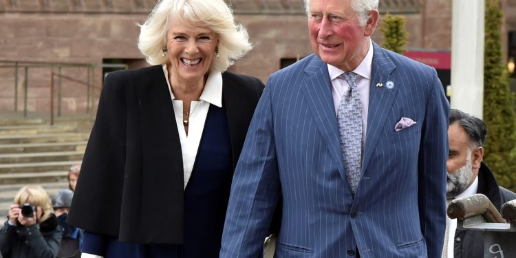 Britain's Prince Charles and Camilla, Duchess of Cornwall, visit the Herbert Art Gallery and Museum in Coventry, Britain May 25, 2021. Rui Vieira/Pool via REUTERS