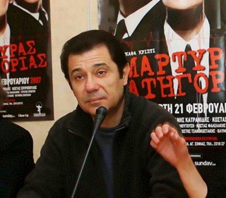 """Συνέντευξη τύπου για την θεατρική παράσταση  """" Μάρτυρας κατηγορίας """" ,Στην φωτογραφία ο Δάνης Κατρανίδης η Κάτια Δανδουλάκη και ο Κώστας Σπυρόπουλος. Τέταρτη 21 Φεβρουαρίου 2007 Θεσσαλονίκη.ΑΠΕ/MEGAPRESS/ΠΑΥΛΟΣ ΜΑΚΡΙΔΗΣ"""